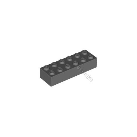 KLOCEK LEGO BRICK 2X6 DARK BLUISH GRAY - 2456