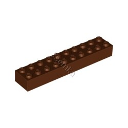 KLOCEK LEGO BRICK 2X10 REDDISH BROWN - 3006