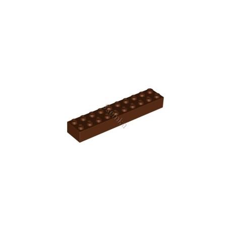 KLOCEK LEGO BRICK 2X10 REDDISH BROWN - 3006