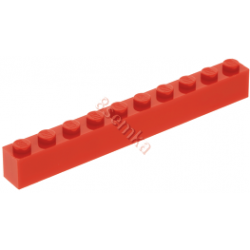 KLOCEK LEGO BRICK 1X10 RED - 6111