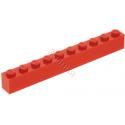 KLOCEK LEGO BRICK 1X10 RED - 6111
