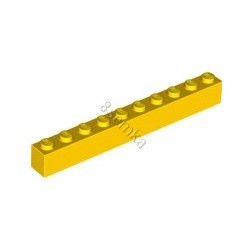 KLOCEK LEGO BRICK 1X10 YELLOW - 6111