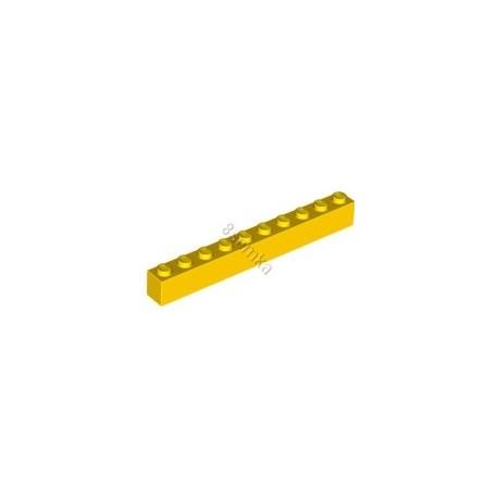 KLOCEK LEGO BRICK 1X10 YELLOW - 6111