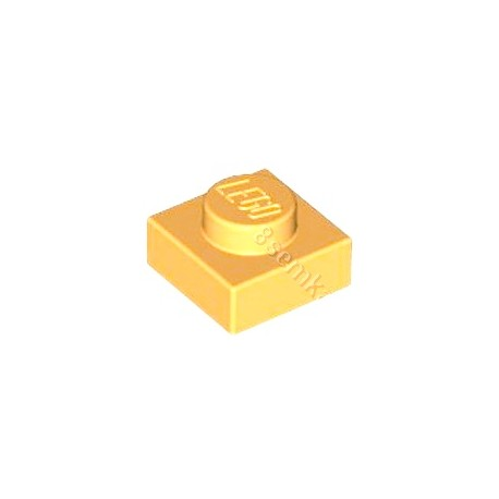 KLOCEK LEGO PLATE 1X1 PEARL GOLG - 3024
