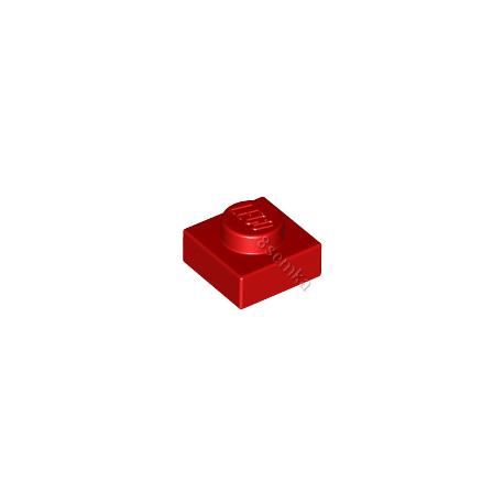 KLOCEK LEGO PLATE 1X1 RED - 3024