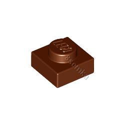 KLOCEK LEGO PLATE 1X1 REDDISH BROWN - 3024