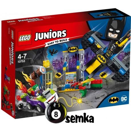 LEGO JUNIORS 10753 ATAK JOKERA NA JASKINIĘ BATMANA
