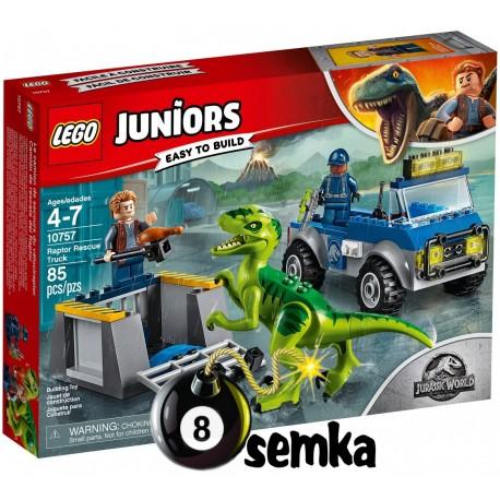 LEGO JUNIORS JURASSIC WORLD 10757 NA RATUNEK RAPTOROM