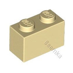 KLOCEK LEGO BRICK 1X2 TAN - 3004