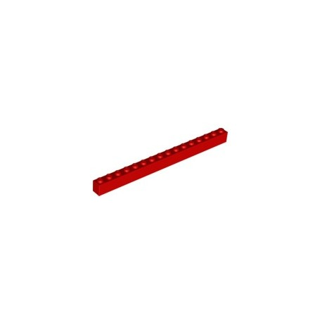 KLOCEK LEGO BRICK 1X16 RED - 2465