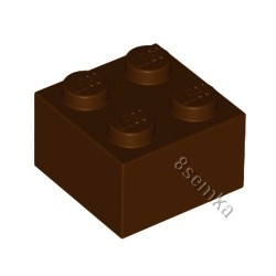 KLOCEK LEGO BRICK 2X2 REDDISH BROWN - 3003
