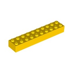 KLOCEK LEGO BRICK 2X10 YELLOW - 3006