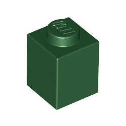 KLOCEK LEGO BRICK 1X1 DARK GREEN - 3005