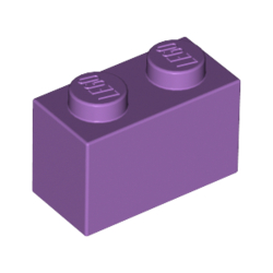 KLOCEK LEGO BRICK 1X2 MEDIUM LAVENDER - 3004
