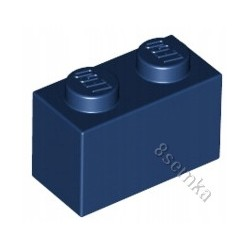 KLOCEK LEGO BRICK 1X2 DARK BLUE - 3004
