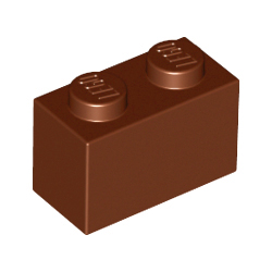 KLOCEK LEGO BRICK 1X2 REDDISH BROWN - 3004