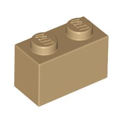 KLOCEK LEGO BRICK 1X2 DARK TAN - 3004