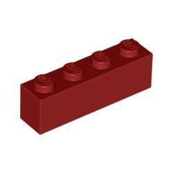 KLOCEK LEGO BRICK 1X4 DARK RED - 3010