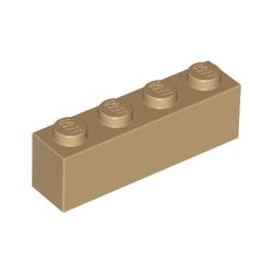 KLOCEK LEGO BRICK 1X4 DARK TAN - 3010