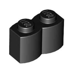 KLOCEK LEGO BRICK KARBOWANY 1X2 BLACK - 30136