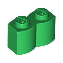KLOCEK LEGO BRICK KARBOWANY 1X2 GREEN - 30136