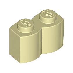 KLOCEK LEGO BRICK KARBOWANY 1X2 TAN - 30136