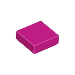 KLOCEK LEGO 1x1 PŁYTKA GŁADKA TILE MAGENTA - 3078b