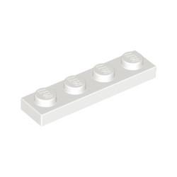 KLOCEK LEGO PLATE 1x4 WHITE BIAŁY - 3710
