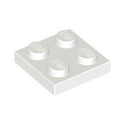 KLOCEK LEGO PŁYTKA PLATE 2x2 WHITE BIAŁY - 3022