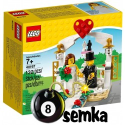 LEGO 40197 UPOMINKOWY ZESTAW ŚLUBNY MŁODA PARA