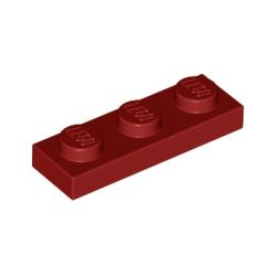 KLOCEK LEGO PLATE 1x3 DARK RED - 3623