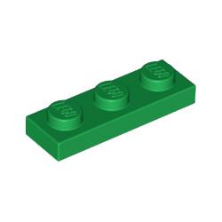 KLOCEK LEGO PLATE 1x3 GREEN - 3623