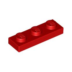 KLOCEK LEGO PLATE 1x3 RED CZERWONY - 3623