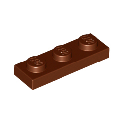 KLOCEK LEGO PLATE 1x3 REDDISH BROWN BRĄZOWY - 3623