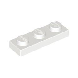 KLOCEK LEGO PLATE 1x3 WHITE BIAŁY - 3623
