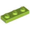 KLOCEK LEGO PLATE 1x3 LIME - 3623