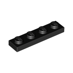 KLOCEK LEGO PLATE 1x4 BLACK - 3710