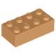 KLOCEK LEGO BRICK 2X4 MEDIUM NOUGAT - 3001