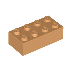 KLOCEK LEGO BRICK 2X4 MEDIUM NOUGAT - 3001