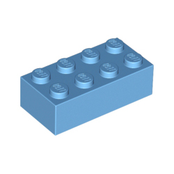 KLOCEK LEGO BRICK 2X4 MEDIUM AZURE - 3001