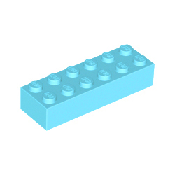KLOCEK LEGO BRICK 2X6 MEDIUM AZURE - 2456