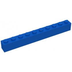 KLOCEK LEGO BRICK 1X10 BLUE - 6111