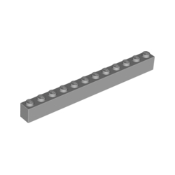 KLOCEK LEGO BRICK 1X12 LIGHT BLUISH GRAY - 6112