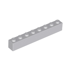KLOCEK LEGO BRICK 1X8 LIGHT BLUISH GRAY - 3008