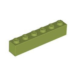 KLOCEK LEGO BRICK 1X6 OLIWKOWY - 3009