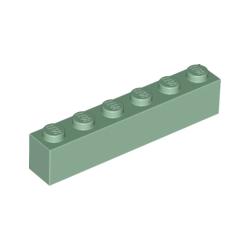 KLOCEK LEGO BRICK 1X6 SAND GREEN - 3009