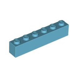 KLOCEK LEGO BRICK 1X6 MEDIUM AZURE - 3009