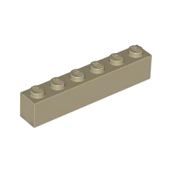 KLOCEK LEGO BRICK 1X6 DARK TAN - 3009
